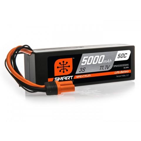 Spektrum 5000mAh 3S 11.1V 50C Smart LiPo Hardcase IC5 SPMX50003S50H5