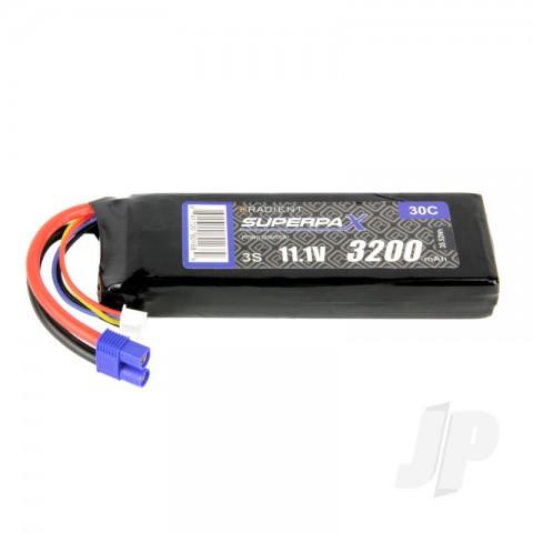 Radient LiPo 3S 3200mAh 11.1V 30C EC3 RDNB32003S30