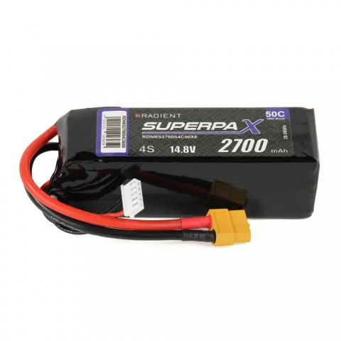 Radient LiPo 4S 2700mAh 14.8V 50C (XT60) RDNBS2700S4C50X6