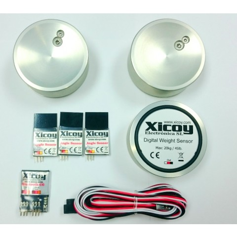 COG Center of Gravity Digital weight and Balance Meter & Angle Meter Kit Bluetooth Version from Xicoy CGBLUE1_PRO
