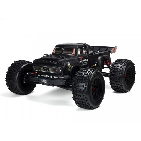 Arrma 1/8 Notorious 6S V5 4WD BLX Stunt Truck with Spektrum Firma RTR Black ARA8611V5T1