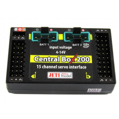 Jeti Central Box 200 J-CB-200-RS-RCSW with 2 x Rsat2 with RC Switch