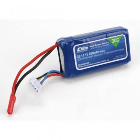 E-Flite 450mAh 3S 11.1V 30C LiPo with JST Connector EFLB4503SJ30