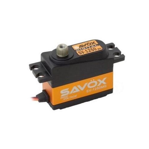 Savox SV-1250MG HV Digital Mini Size Cyclic Servo 8kg/0.095s@7.4V
