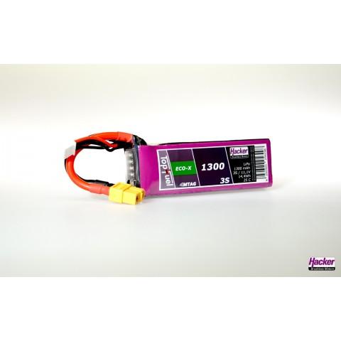 Hacker TopFuel ECO-X 3S 1300mAh 25C LiPo Battery XT60 MTAG 91300341