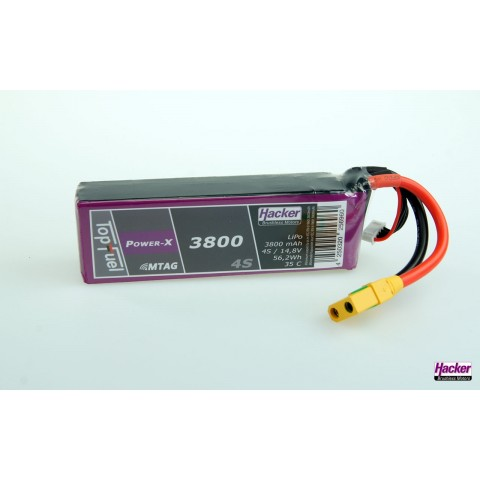 Hacker TopFuel Power-X 3800mAh 4S MTAG 35C LiPo Battery 93800461