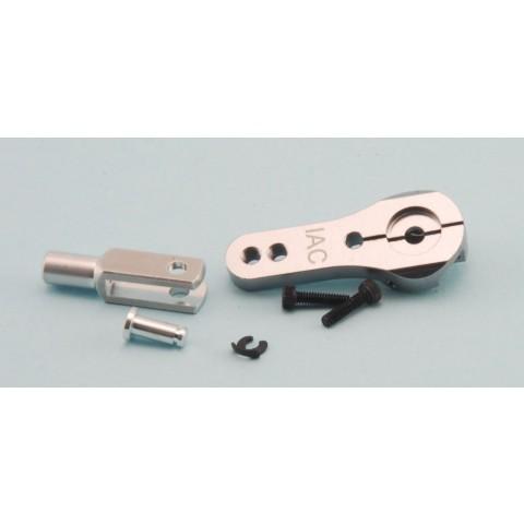 25mm CNC Double Lock Servo Arm, 3mm Holes with M3 CNC Clevis - JR / Spektrum by Intairco IAC-620J-C