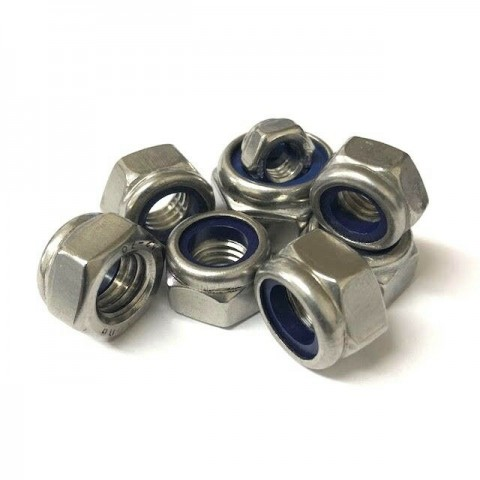 M3 Nyloc Nuts A2 Stainless Steel bulk pack of 100