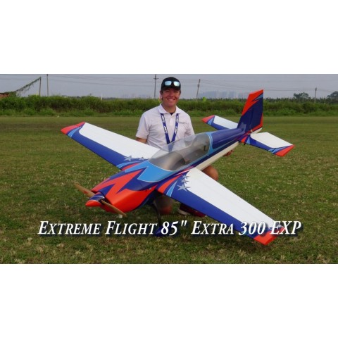 "Extreme Flight Extra 300 85"" Blue / Orange / White"