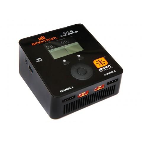 Spektrum Smart S2100 AC Charger 2x100W SPMXC1010I