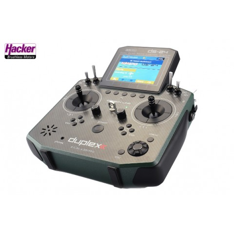 Jeti Duplex 2.4 EX DS24 Carbon Line Dark Green Multi Mode Transmitter with REX10 Receiver 80001624