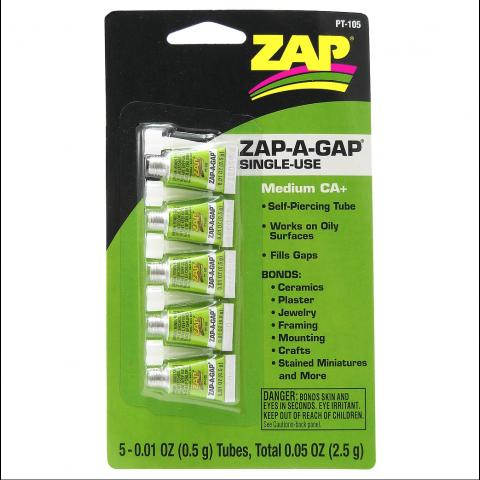 ZAP PT105 Zap-A-Gap Medium CA+ Single Use 0.01oz Tubes (medium)